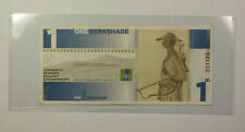 2006 One 1 Berkshare Great Barrinton MA Berkshire Money UNC