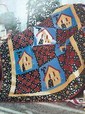 """Town Square"" quilt magazine patterns applique & piecing"