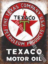 Texaco Motor Oil, 152 Old Vintage Garage Advertising Fuel, Medium Metal/Tin Sign