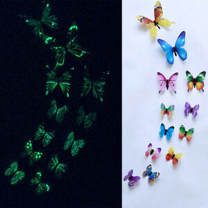 Butterfly Wall Stickers Creative Luminous Stickers Door Windows Kids Room Decor