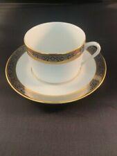 Philippe Deshoulieres Orleans Limoges Gold and Platinum Tea cup & Saucer Set