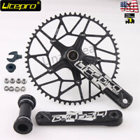 Litepro Bike 170mm Crankset 130BCD Chainring EDGE Hollow Crank Set GXP BB 50-58t