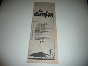 THE STRANGLERS  SEPTEMBER 1978 TOUR  HALF PAGE PRESS ADVERT POSTER SIZE  37/15CM