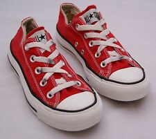 Girls Red CONVERSE All Stars. Size 3.