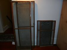 Antique window screens, locking window screens, turn of century window screen