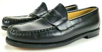 Brooks Brothers 5229 Matte Black Leather Penny Loafers Shoes Men's Size 7.5 D