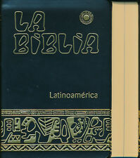 Biblia Latinoamerica -Pasta Simil Piel NEGRO- Español Latinoamericana Catolica