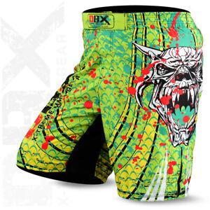 MMA Shorts Grappling Kick Boxing Mens Muay Thai Cage Fighting Green DBXGEAR