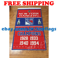 New York Rangers Stanley Cup Champions Flag Banner 3x5 ft 2019 NHL Hockey NEW