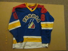 Peoria Youth Hockey #6 Size L Athletic Sewing Game Used Hockey Jersey