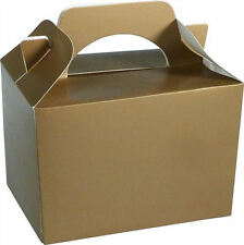 20 Gold Party Boxes - Food Loot Lunch Cardboard Gift Wedding/Kids