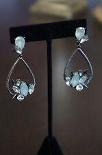 NEW Erickson Beamon Rocks Blondie Cluster Crystal Drop Hematite Earrings RARE