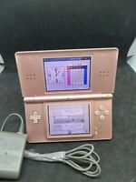 NINTENDO DS LITE  METALLIC PINK ROSE COLORED WITH STYLUS and CHARGER USG-001