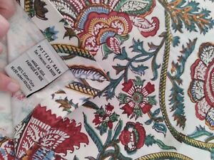 "Pottery Barn Table Runner Decor Printed 16""X90"" 100%cotton paisley"