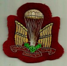 Canadian Parachute Corps Bullion Blazer Crest