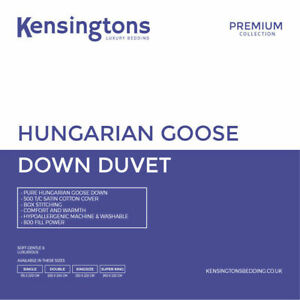 Kensingtons®  Hungarian Goose Down Duvets 800 Fill Power All Togs Sizes Quilts