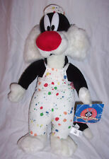 "Ace Looney Tunes Sylvester the Cat Painting 20"" Plush Soft Toy Stuffed Animal"
