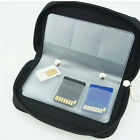 22 SDHC MMC CF Micro SD Memory Card Storage Carrying Pouch Case Holder Black Hot
