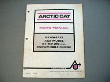 New listing Vintage Arctic Cat / Kawasaki Engine Parts Manual Kt-150-292cc A & B Models P.P.