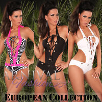 NEW SEXY WOMENS ONE PIECE SWIMSUIT sz 6 8 10 12 DESIGNER SWIMWEAR MONOKINI S M L