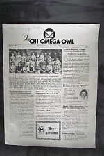1940 two Chi Omega Owl Sorority news letters Portland Oregon