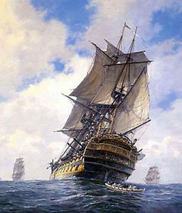 """Dream-art oil painting seascape big sail boats on ocean hand painted canvas 36"""""""
