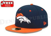 New Era 5950 DENVER BRONCOS 2 Tone Team Cap NFL Fitted Hat  Two Tone 59Fifty