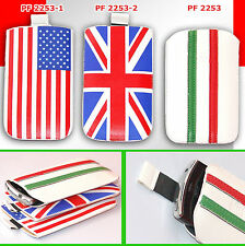 case eco leather bag FLAG ITALY UK USA for SAMSUNG i9001 GALAXY S plus