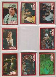 1982 Donruss MASH Trading Cards TV SHOW M.A.S.H. (65 cards in total)