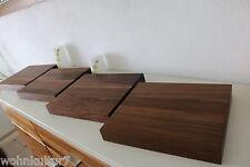 4x Wandboard Nussbaum Massiv Holz Board Regal Steckboard Regalbrett NEU auf Maß
