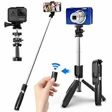 SYOSIN Palo Selfie Trípode con Control Remoto Bluetooth, 4 en 1 Monópode Exten