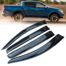 Window Visors Rain Deflect Guard Weather Shields for Mitsubishi Triton 2016-2018