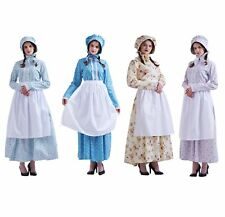 Colonial Civil War Reenactment Pilgrim Pioneer Dress Puritan Costume Outfit
