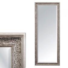 Wandspiegel FIORA Barock Pompös Spiegel 130x50cm Antik Silber Design  Holzrahmen