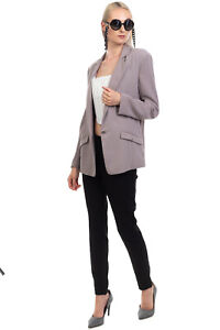 RRP€215 ELISABETTA FRANCHI 24 ORE Crepe Blazer Jacket Size IT 44 M Made in Italy