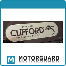 2x Clifford G5 Car Alarm Internal Window Stickers Decal. Bargain Buy!!