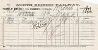 NORTH BRITISH RAILWAY May1898 Dundee Station to Methil Parcels Way Bill Rf 45241