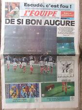 L'Equipe du 29/1/1998 Foot France-Espagne - Escudé -