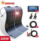 100w 12v 200w Semil-flexible Mono Solar Panel Kit for Caravan/Car/Home