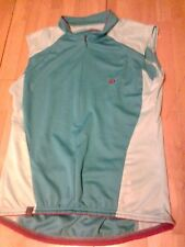 PEARL IZUMI LADIES CYCLING TOP WITH BRAND DETAILING-LIGHT BLUE-MEDIUM OR LARGE