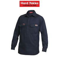 Mens Hard Yakka Protect Shieldtec Fire Resistant Hi-Vis Work Shirt Safety Y04250