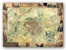 Carte de Paris II Susan Gillette Art Print 40x30