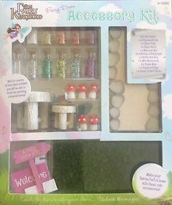 Fairy Door Garden Accessory Kit 10 Bottles Fairy Dust Grass Mushrooms Furniture