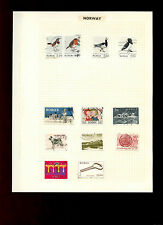 Norway Album Page Of Stamps #V5277