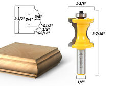 "1-1/2"" Bullnose & Cove Trim Molding Router Bit - 1/2"" Shank - Yonico 13100"