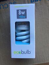 40 X Eco bulb 8W B22 HPF 40w 15000Hr Spiral Bulbs/globe bayonet RRP $400