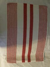 Red White Stripe Cotton Table Placemats Set Of 8 Excellent Confition