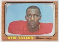 1966  OTIS TAYLOR - Topps Football Rookie Card # 75 - KANSAS CITY CHIEFS