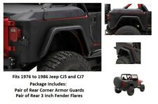 Jeep Rear Armor Corner Guards with Bolt-on Flares for 1976 to 1986 Jeep CJ7