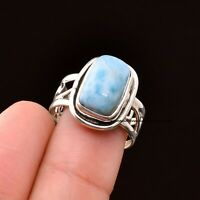 Larimar Ring 925 Sterling Silver Ring Band Ring Handmade Ring Handmade Jewelry